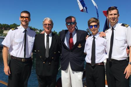 Tyge, Captain Hall, Marty, Ben & Jeff